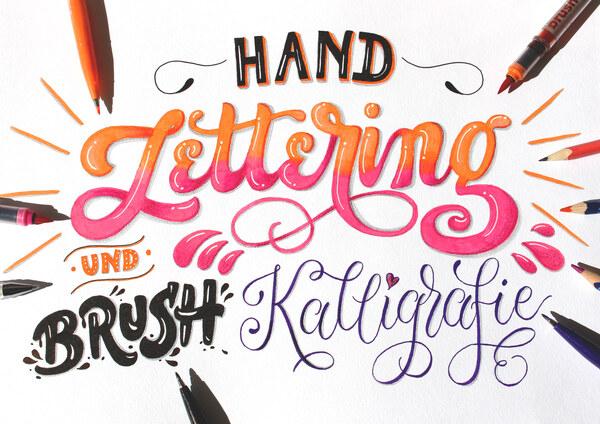 Handlettering und Brush Kalligrafie