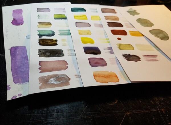 pflanzlich hergestellte Farben