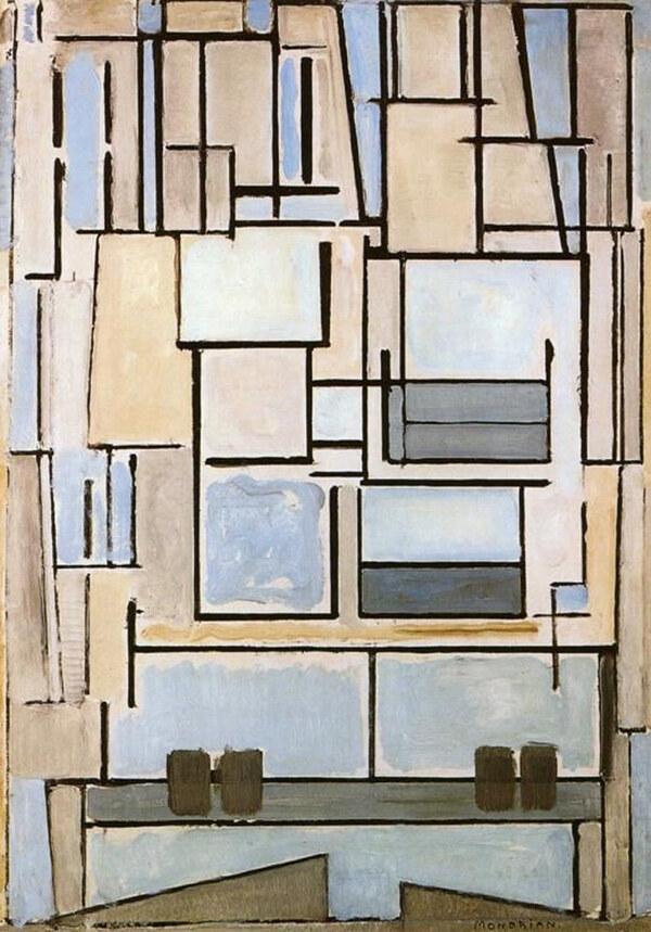 Piet Mondrian / composition IX / blue facade