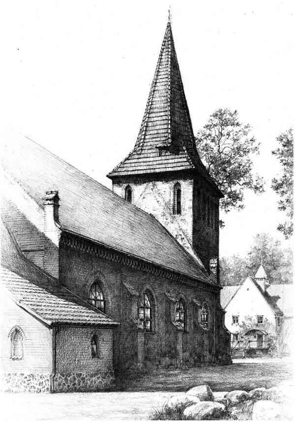 Old church near Baltic coast
