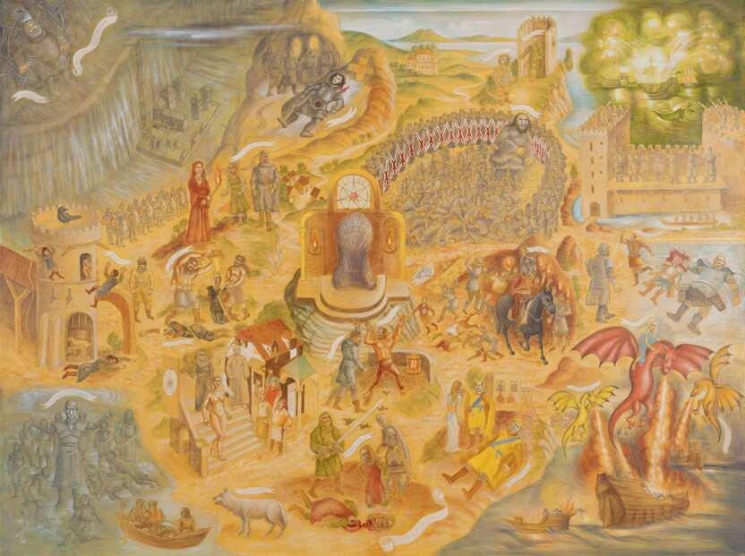 Das Gemälde von Eis und Feuer