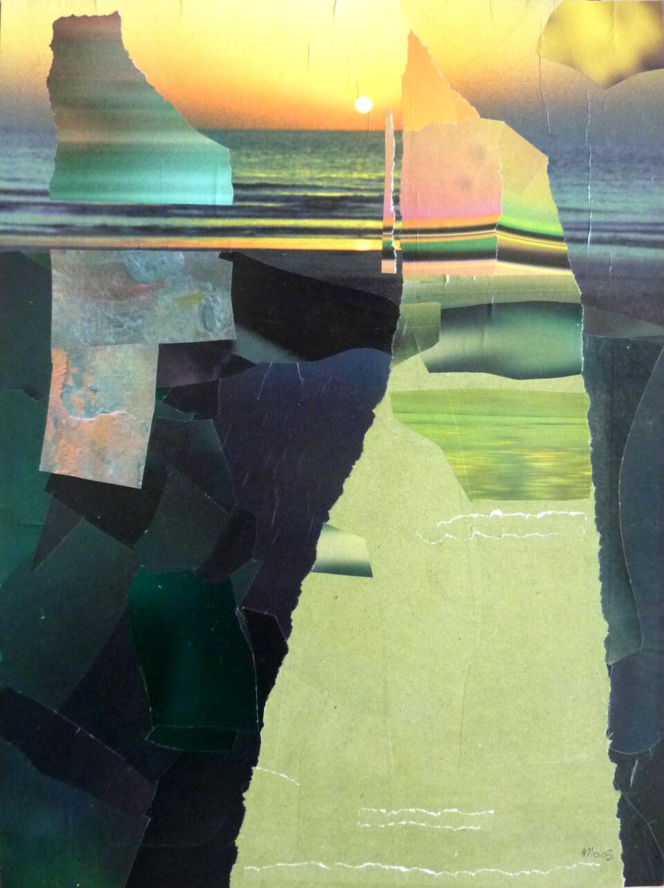 Collage und Übermalung