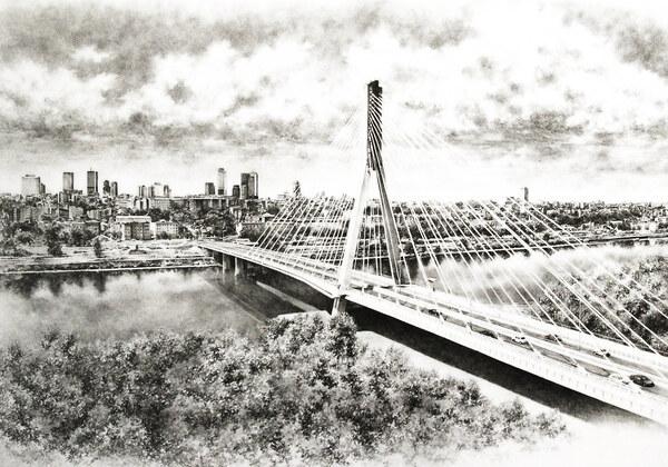 Warsaw birds eye view