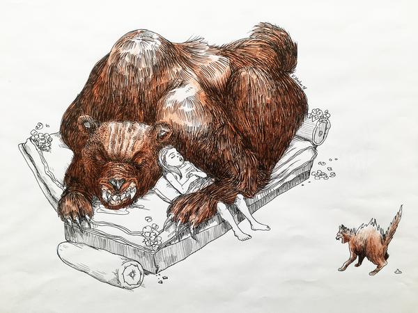 "Bär aus dem Buch ""Haustiere"""
