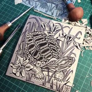 Drucktechniken: Basiskurs Linolschnitt