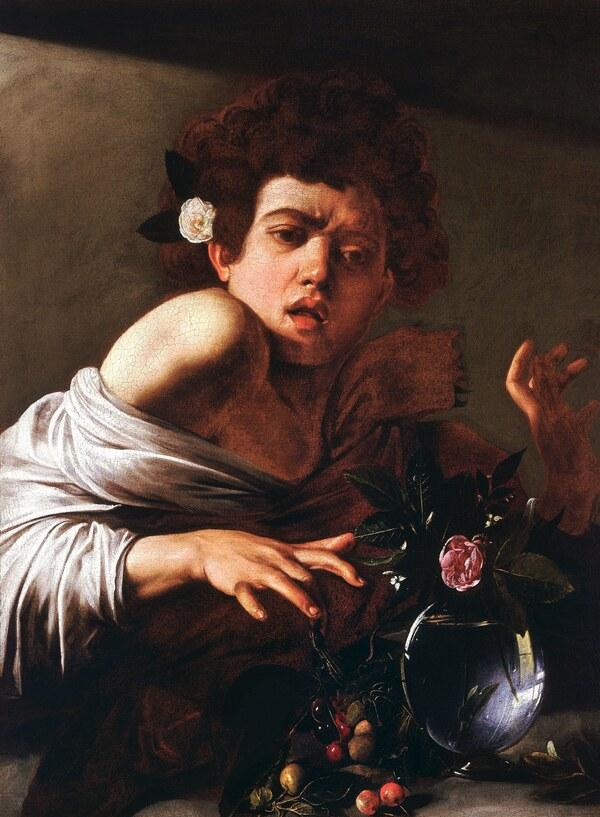 Caravaggio, Knabe von einer Eidechse gebissen