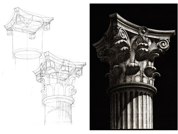 Corinthian capital in phases