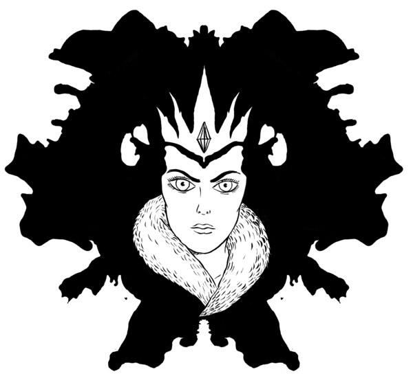Illustration für das Theaterstück die Schneekönigin