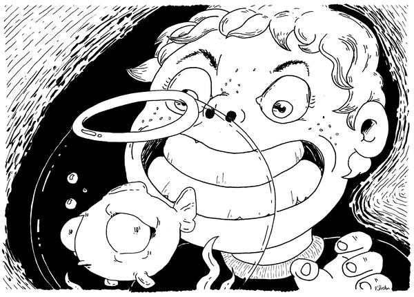 Hugo und sein Goldfisch
