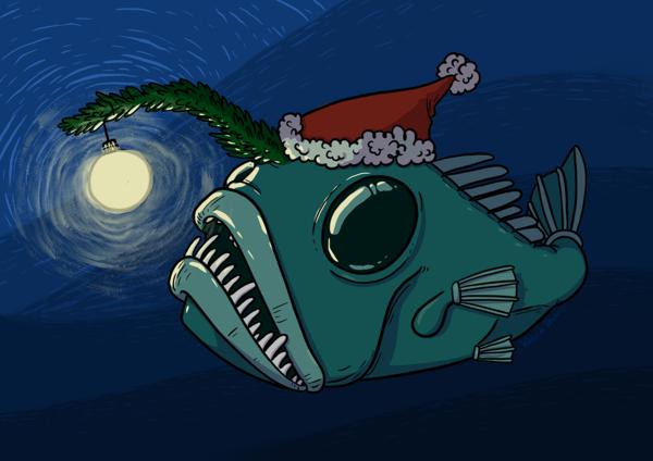 Weinachts-Anglerfisch