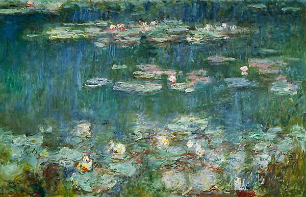 Claude Monet / Seerosen, grüne Reflexionen (rechter Teil)