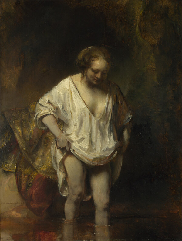 Rembrandt / Badende Frau