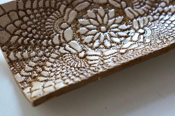 Arbeit einer Kursteilnehmerin / Keramik im Glasurbrand / Wintersemester 2018