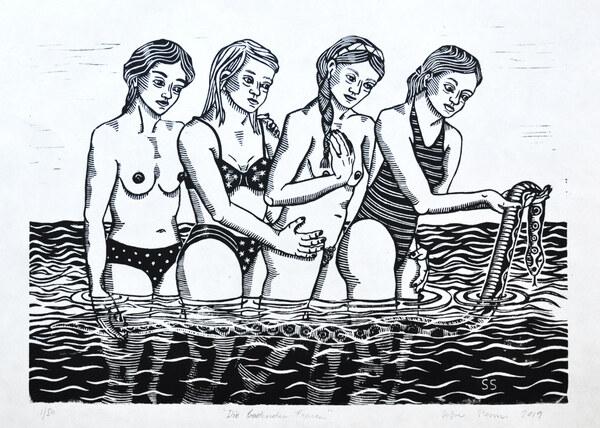 Die badenden Frauen