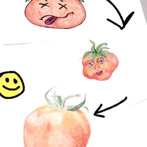 Hilfe! Mein Selbstporträt sieht aus wie eine Tomate!