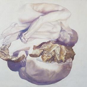 Aktmalerei am Motiv zweier Figuren