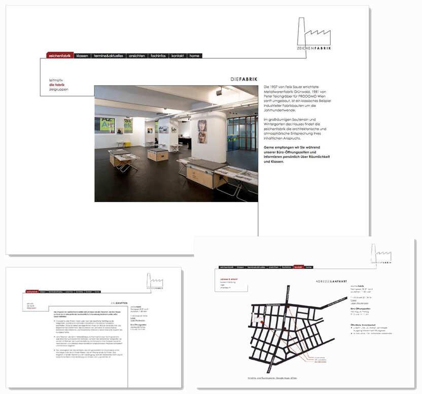 Zeichenfabrik Website 2009